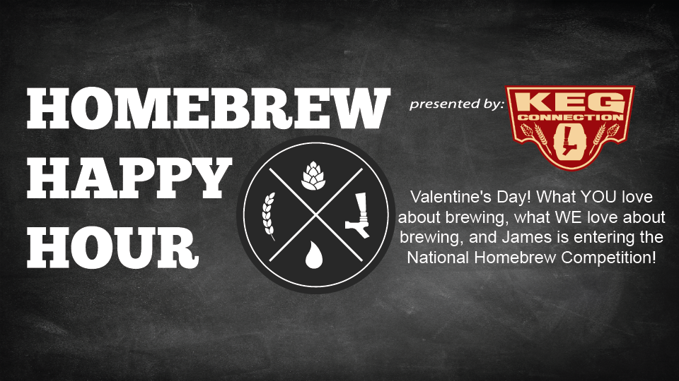 Valentine's Day! What YOU love about brewing, what WE love about brewing, and James is entering the National Homebrew Competition! — HHH Ep. 073