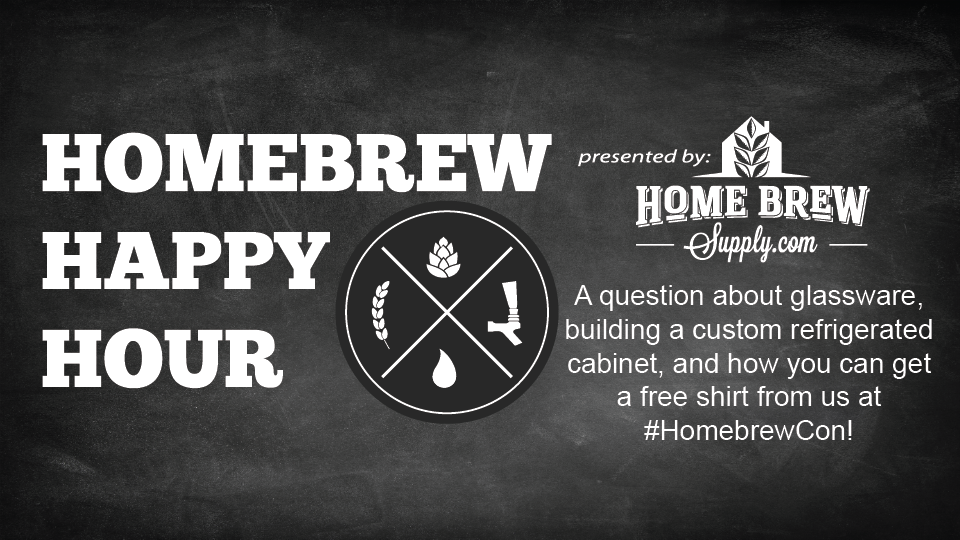 A question about glassware, building a custom refrigerated cabinet, and how you can get a free shirt from us at  #HomebrewCon — HHH Ep. 086